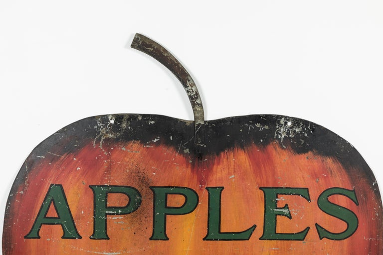 Iron Apple Orchard Folk Art Trade Sign For Sale 3