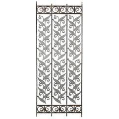 Iron Architectural Panels with Botanical Motif
