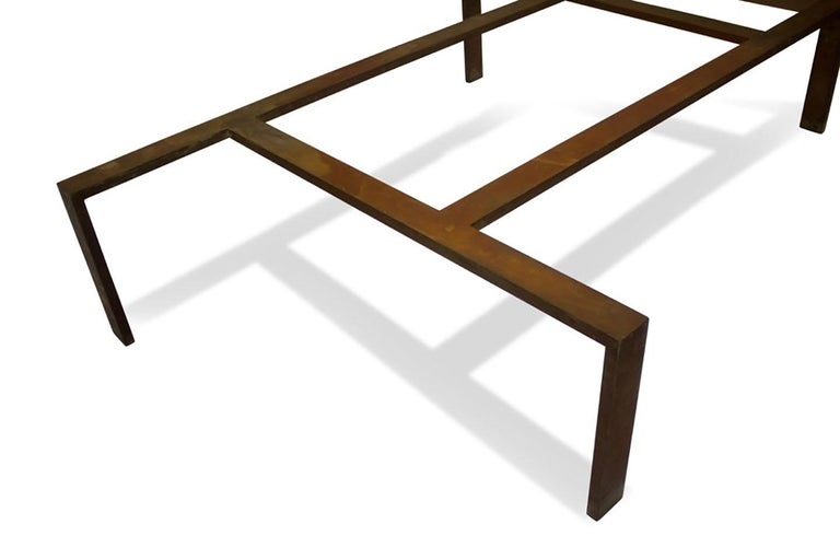 20th Century Iron Base Coffee Table For Sale