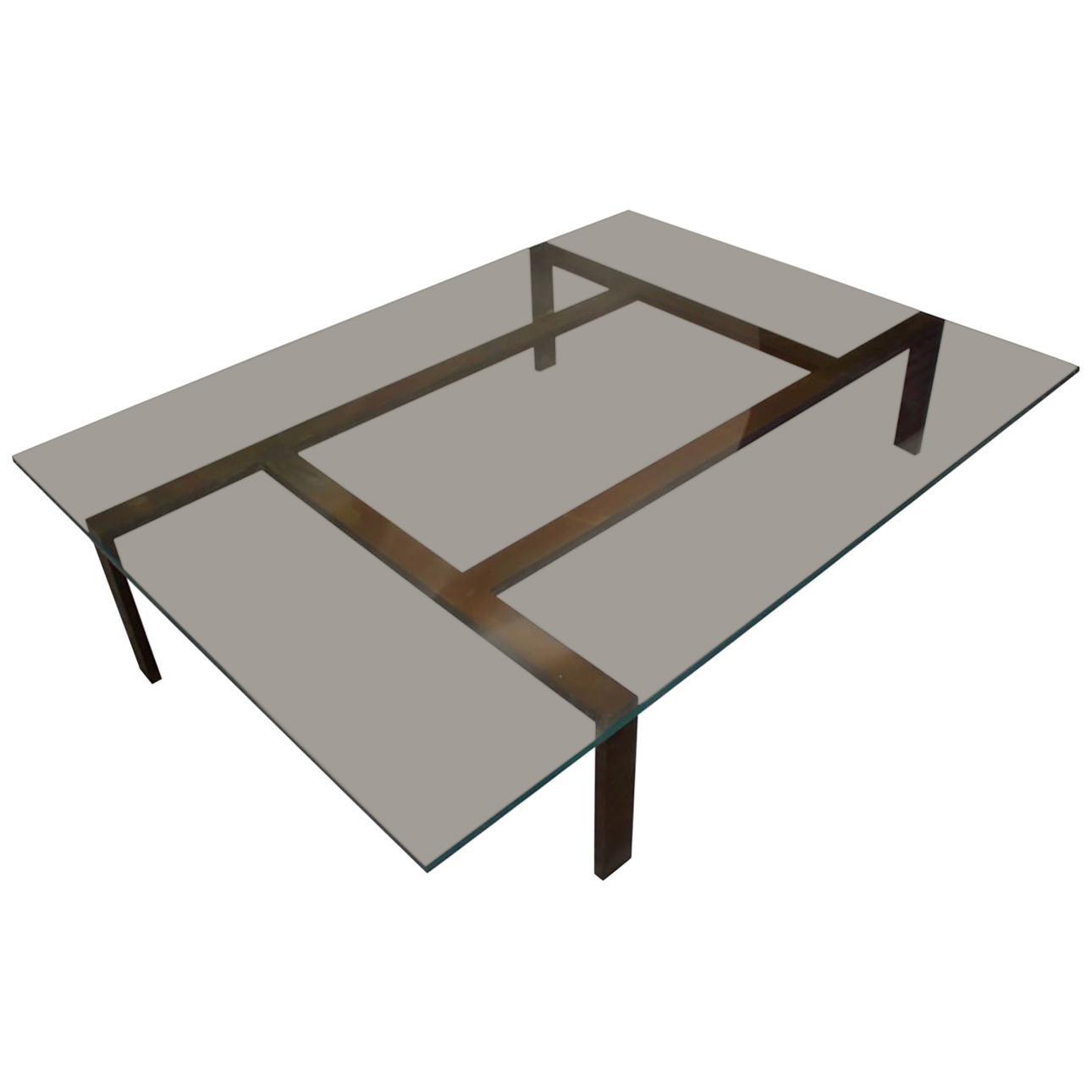 Iron Base Coffee Table