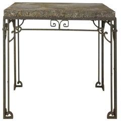 Iron Base Garden Table