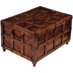 Iron-Bound Stick Box or Trunk from British Colonial India 'The Raj'