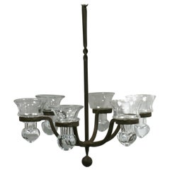 Iron Chandelier for Air Ferns or Votives