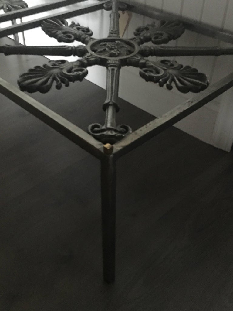 Neoclassical Iron Cocktail Table Made of Architectural Elements For Sale