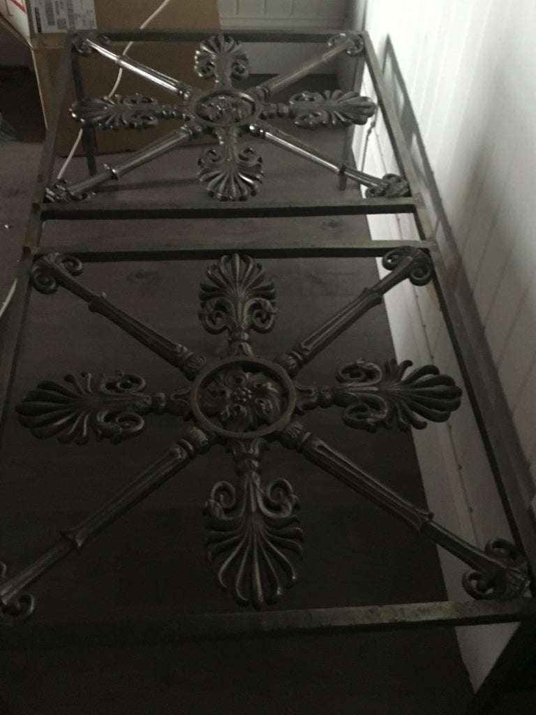 Iron Cocktail Table Made of Architectural Elements In Excellent Condition For Sale In Buchanan, MI