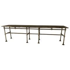 Iron Conservatory Table, Geometric Design