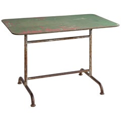 Iron Factory Table, America, circa 1920