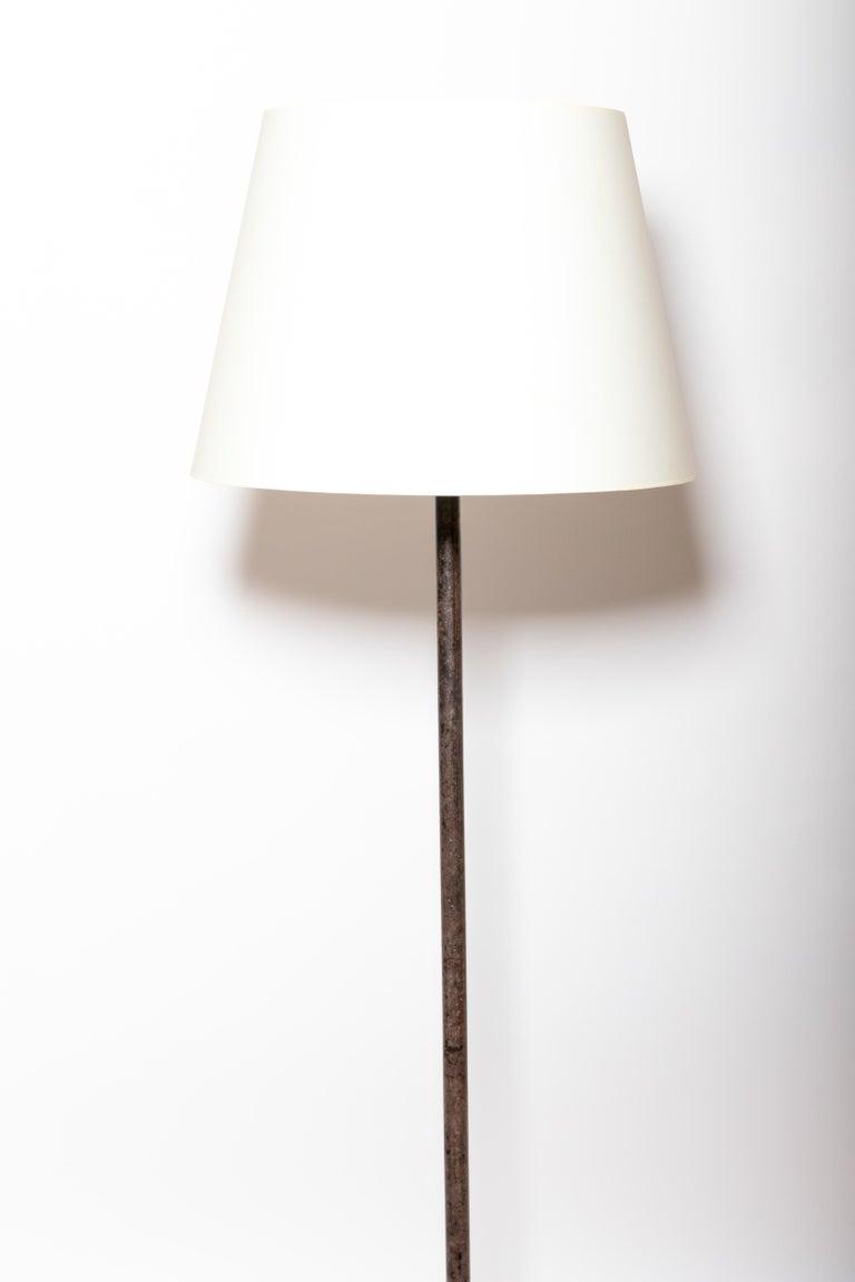Mid-20th Century Vintage Iron Floor Lamp For Sale