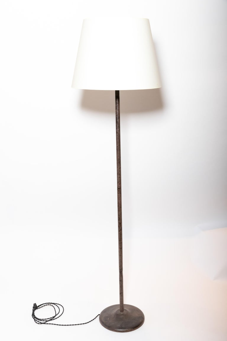 Vintage Iron Floor Lamp For Sale 1