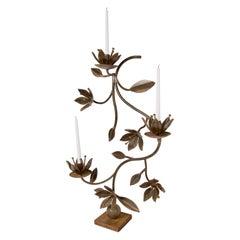 Iron Floral Candelabra by Jan Barboglio