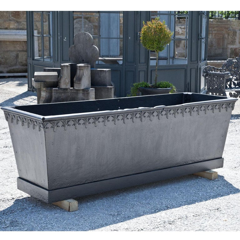 Gothic Revival Iron Fountain Basin, Mid-19th Century For Sale