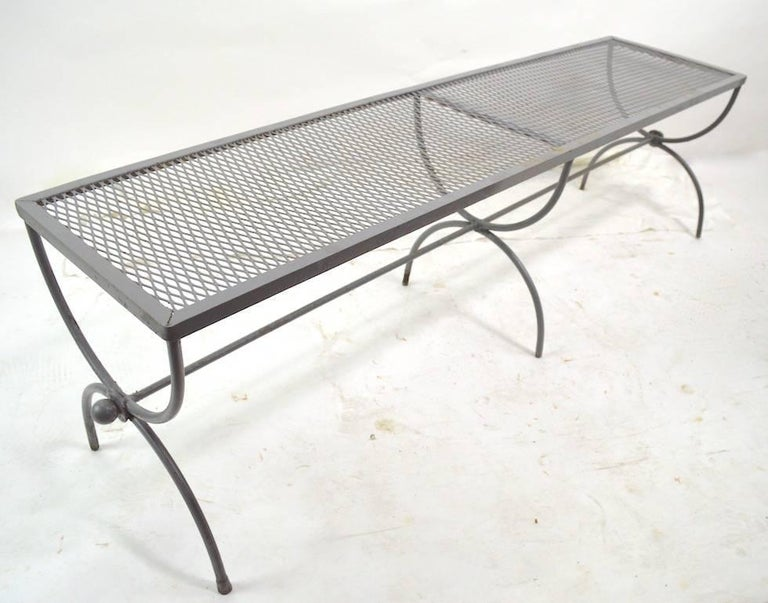 Iron Garden Bench by Woodard For Sale 1