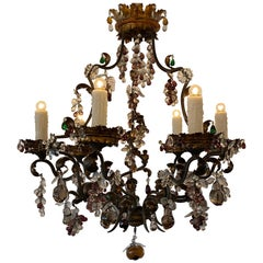 Iron and Gilt Tole Chandelier