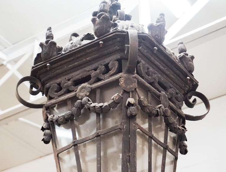 Iron Hanging Lantern For Sale 2