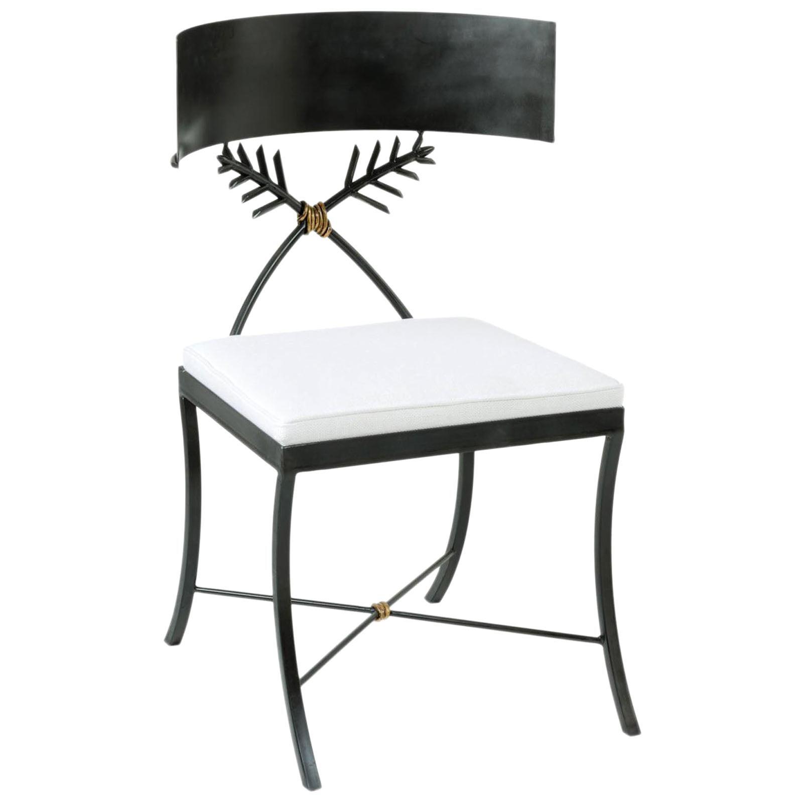 Iron Klismos Chair