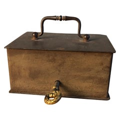 Iron Lock Box, French 19th Century