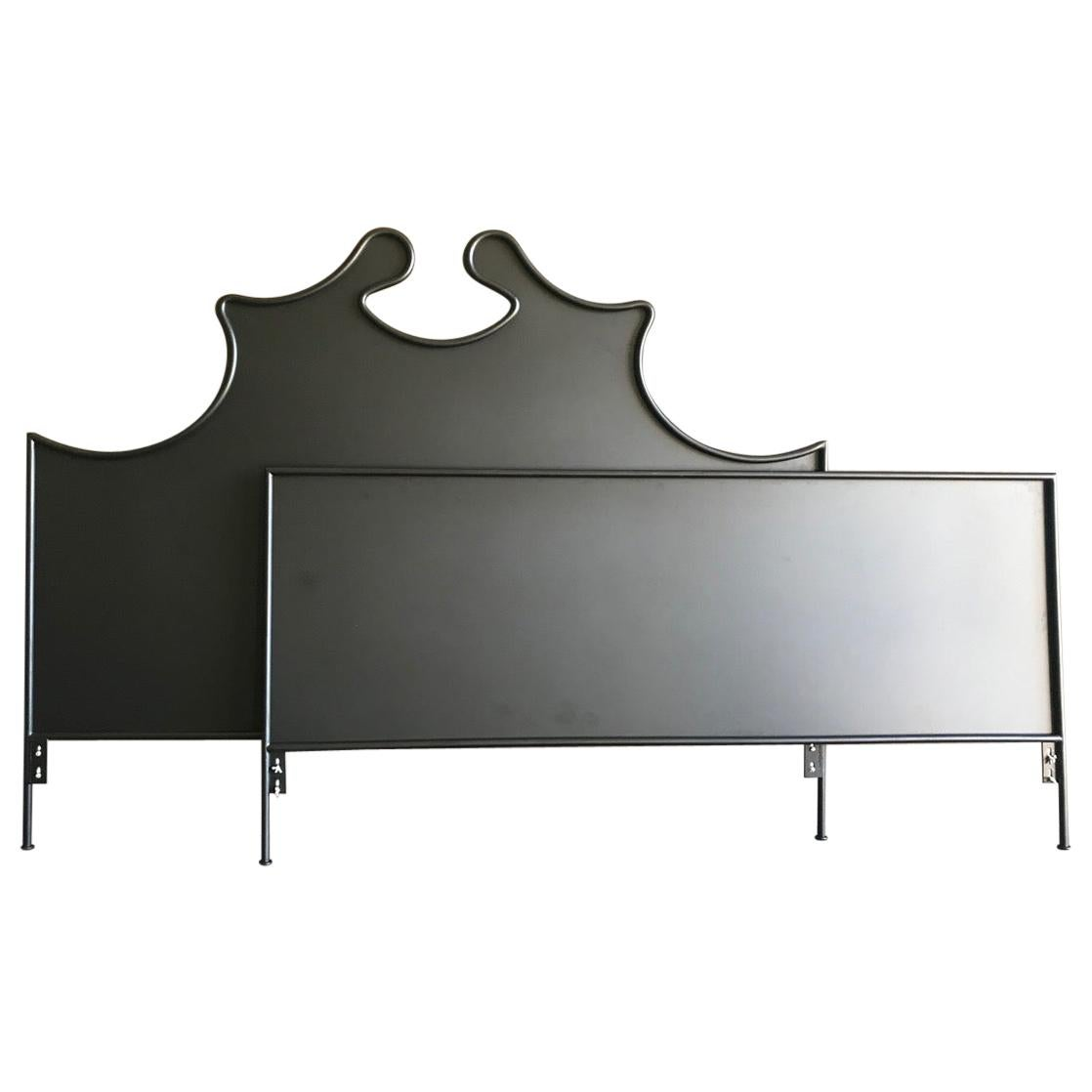 Iron Louis XV Style Headboard with Footboard, King