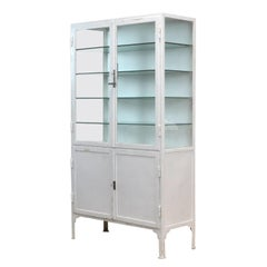 Iron Medical Display Cabinet, 1940s