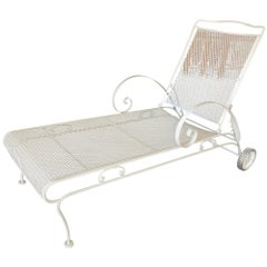 Iron Mesh Outdoor / Patio Chaise Lounge by Woodard