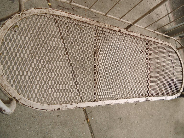 Iron Midcentury Lawn Bench In Good Condition For Sale In Brooklyn, NY