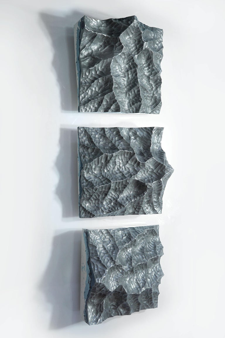 Modern Iron Mountains - Contemporary Wall sculpture - by Eduard Locota For Sale