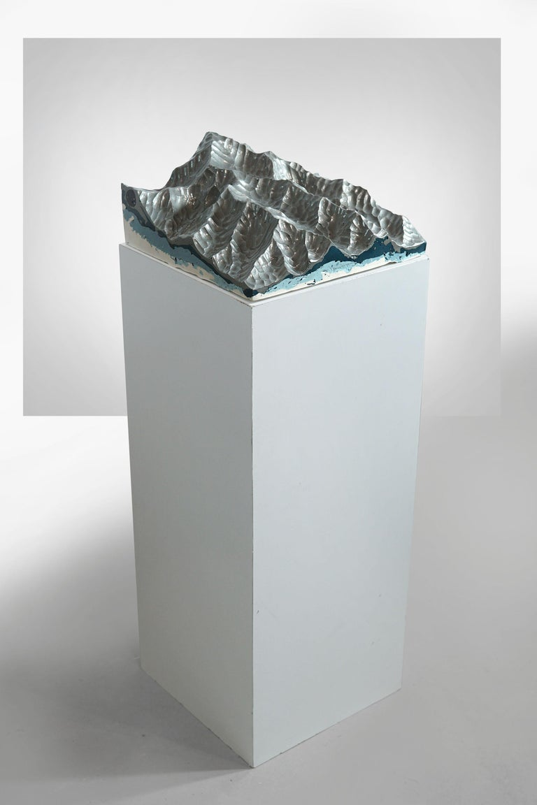 Romanian Iron Mountains - Contemporary Wall sculpture - by Eduard Locota For Sale