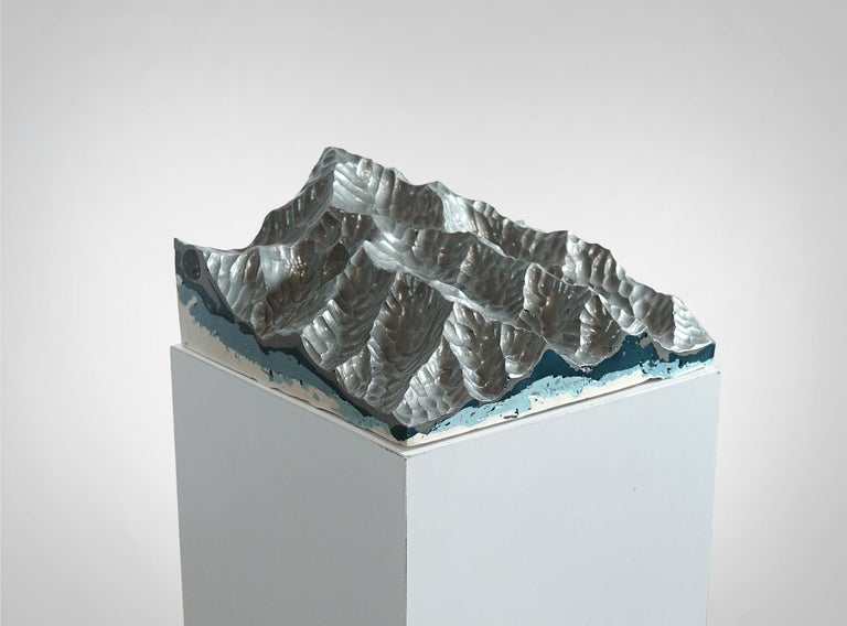 Cast Iron Mountains - Contemporary Wall sculpture - by Eduard Locota For Sale