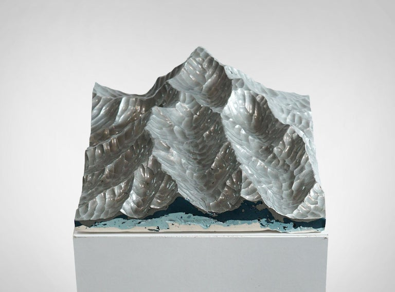 Metal Iron Mountains - Contemporary Wall sculpture - by Eduard Locota For Sale