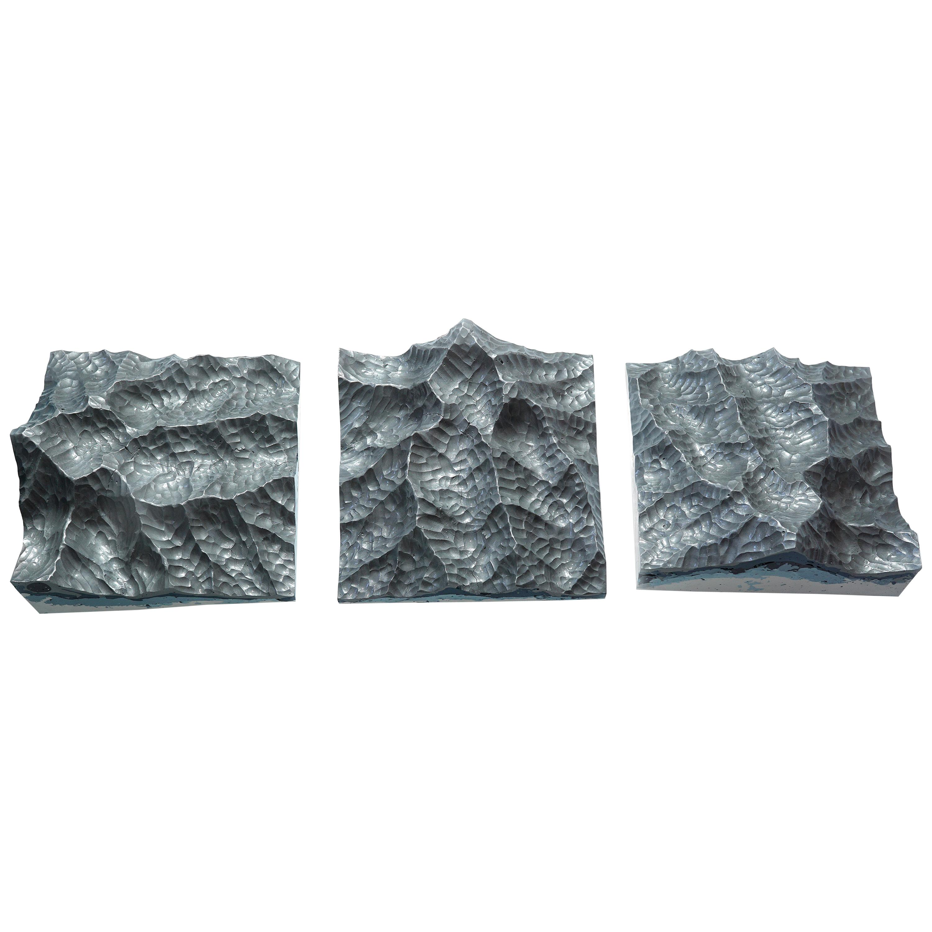 Iron Mountains - Contemporary Wall sculpture - by Eduard Locota