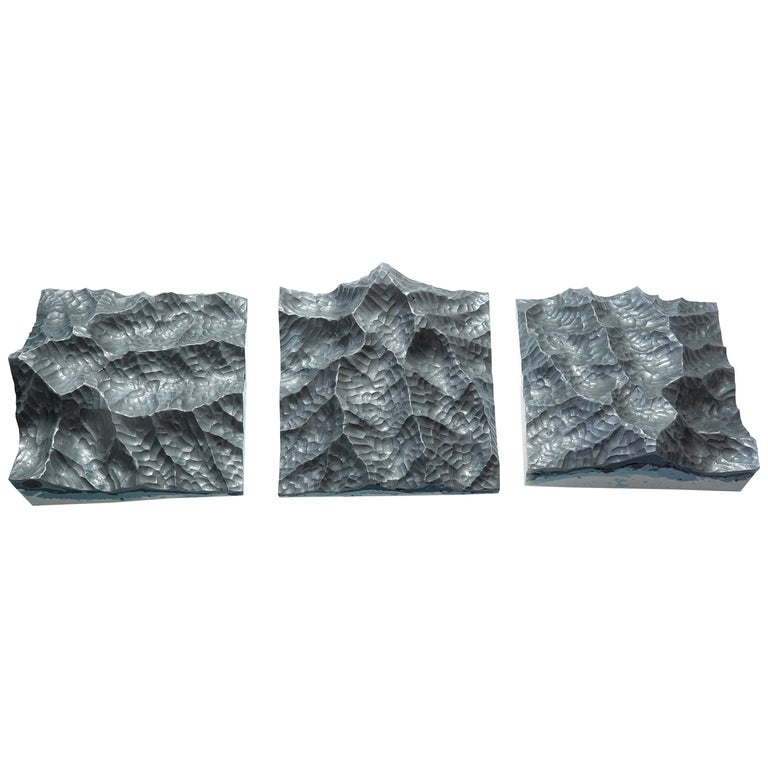 Iron Mountains - Contemporary Wall sculpture - by Eduard Locota For Sale