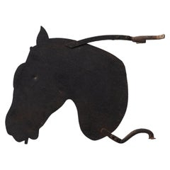 Iron Saddlers Horse Sign, circa 1890