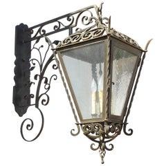Iron Scroll Lantern on Italian Style Bracket
