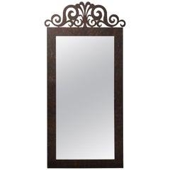 Iron Scrolled Crest Mirror