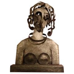 "Iron Sculpture ""Woman"" by Blasco Ferrer"