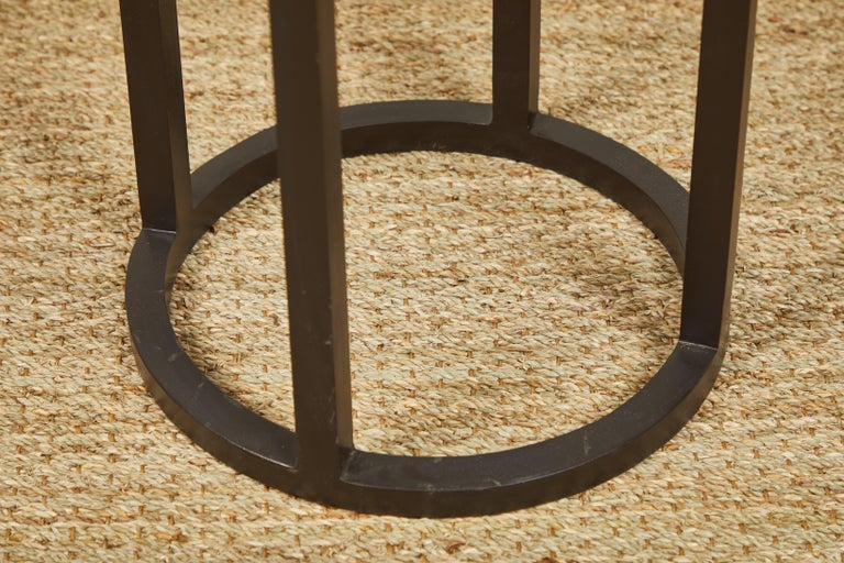 American Iron Side Tables, Two For Sale