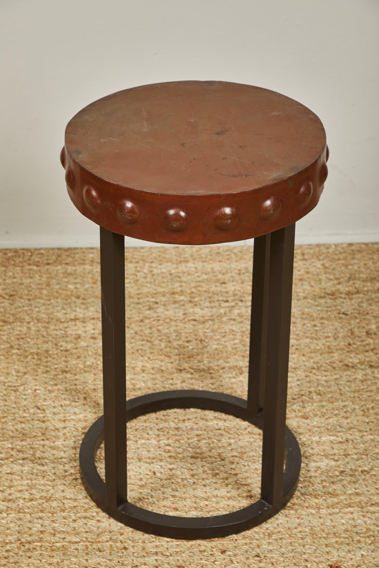 Iron Side Tables, Two In Good Condition For Sale In Los Angeles, CA