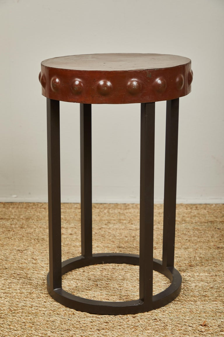 20th Century Iron Side Tables, Two For Sale