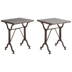 Iron & Slate Side Table, circa 1890