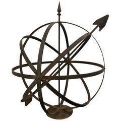 Iron Sphere Garden Ornament