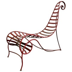 Iron Spine Chair Attributed to Andre Dubreuil
