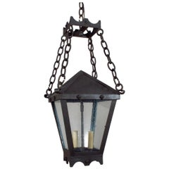 Iron Studded Lantern on Chains