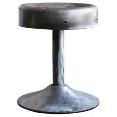 Iron Swivel Chair / Japanese Vintage Furniture / Industrial Swivel Stool