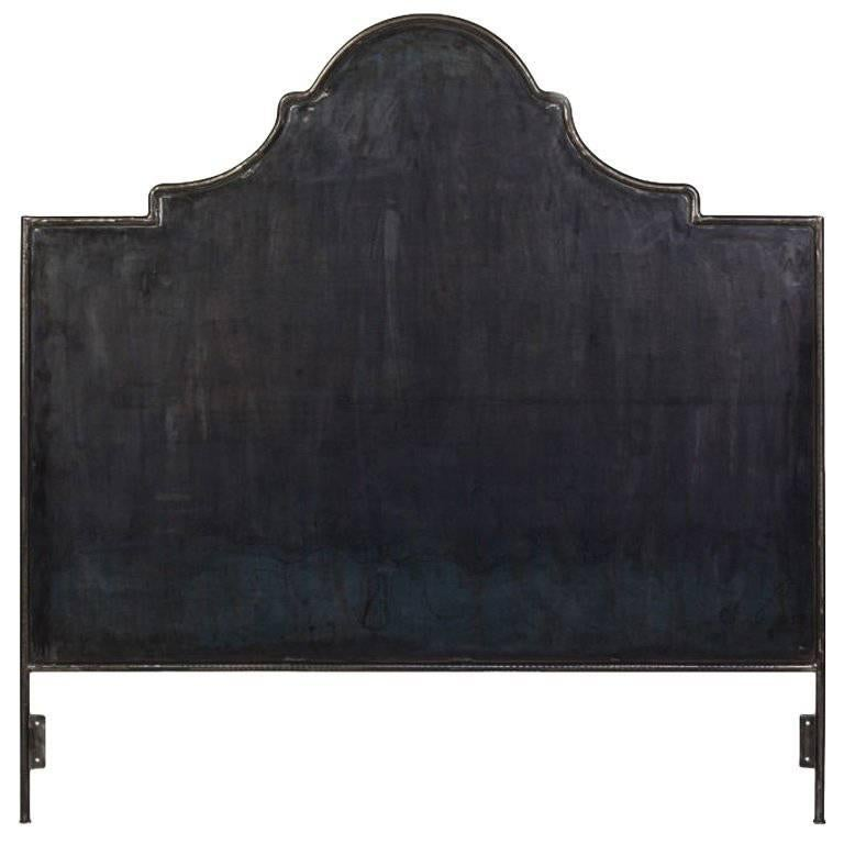 Hand-Crafted Iron Venetian Headboard, King For Sale