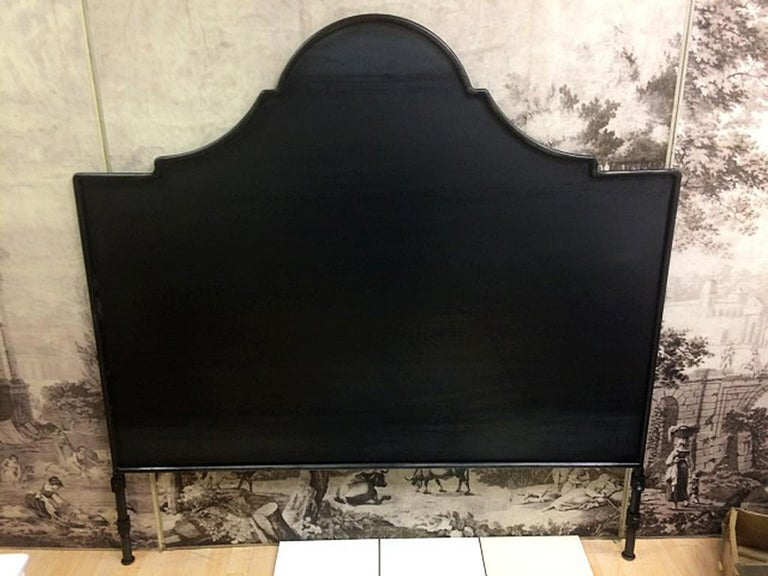 Hand-Crafted Iron Venetian Headboard, Queen For Sale