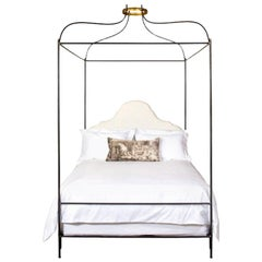 Iron Venetian Upholstered Canopy Bed