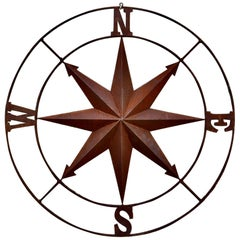 Iron Wall Hanging Nautical North South East & West, Ships Compass