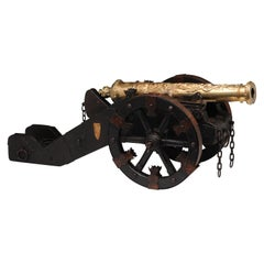 Iron, Wood, and Bronze Model of the Saint Barbara Cannon