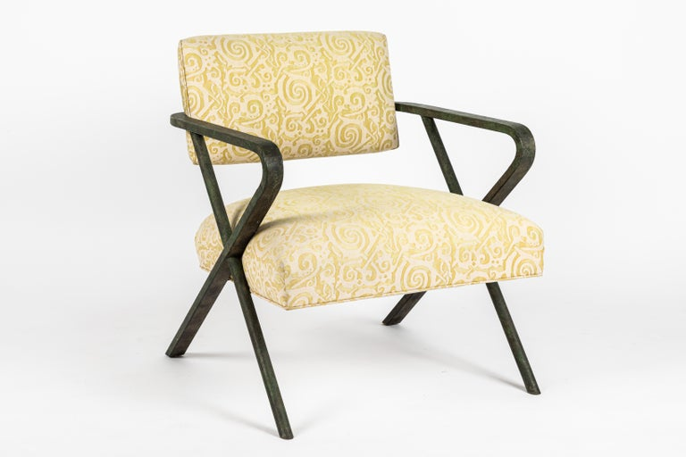 Iron X Chair designed by William Haines For Sale 2