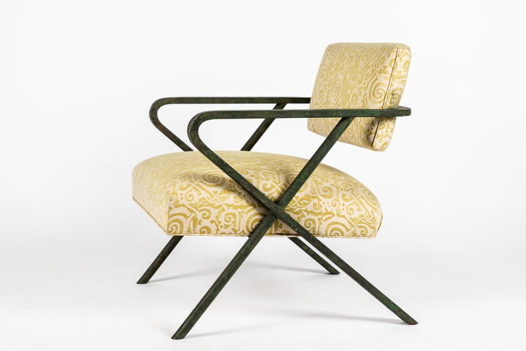 American Iron X Chair designed by William Haines For Sale