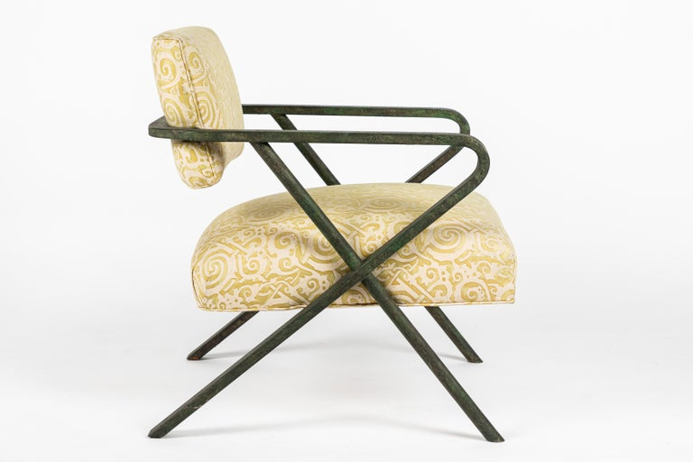 Iron X Chair designed by William Haines For Sale 1